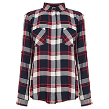 Buy Oasis Checked Shirt, Multi Online at johnlewis.com