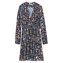 Buy Mango Floral Print Dress, Navy Online at johnlewis.com