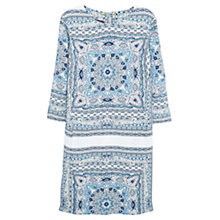 Buy Violeta by Mango Scarf Print Dress, Turquoise/Aqua Online at johnlewis.com