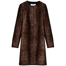 Buy Gerard Darel Leather Animal Print Coat, Camel Online at johnlewis.com