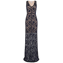 Buy Belle by Badgley Mischka Lace Maxi Dress, Navy Online at johnlewis.com