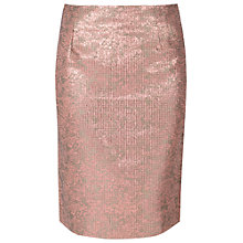 Buy True Decadence Metallic Pencil Skirt, Rose Gold Online at johnlewis.com