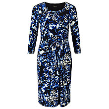 Buy Precis Petite Venezia Floral Print Dress, Blue/Multi Online at johnlewis.com