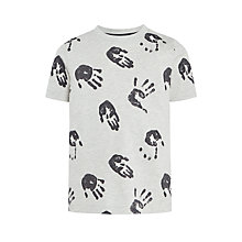 Buy Kin by John Lewis Boys' Hand Print T-Shirt, Grey Online at johnlewis.com