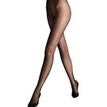 Buy Wolford Valerie Diamond Dot Tights, Gobi Online at johnlewis.com
