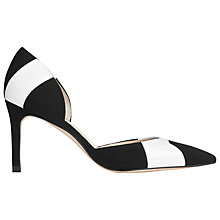 Buy L.K. Bennett Bonnie Cut Away Court Shoes, Black/White Suede Online at johnlewis.com