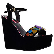 Buy Miss KG Gilly Platform Wedge Shoes, Black Online at johnlewis.com