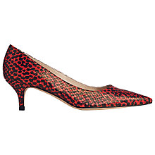 Buy L.K. Bennett Minu Court Shoes, Red Python Online at johnlewis.com