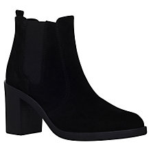 Buy KG by Kurt Geiger Sicily High Heel Ankle Boots, Black Suede Online at johnlewis.com