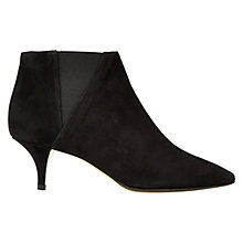 Buy Hobbs Farrah Chelsea Style Ankle Boots, Black Suede Online at johnlewis.com