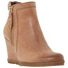 Buy Dune Pacino Side Zip Wedge Ankle Boots Online at johnlewis.com