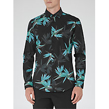 Buy Reiss Xandy Foliage Print Slim Fit Shirt, Navy/Black Online at johnlewis.com