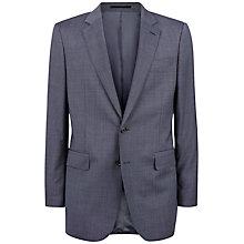 Buy Jaeger Pick and Pick Wool Classic Suit Jacket, Blue Online at johnlewis.com