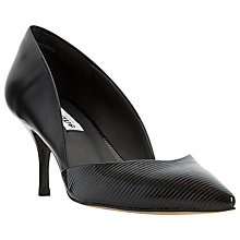 Buy Dune Amal Two Part Mid Heel Court Shoe, Black Patent Online at johnlewis.com