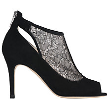 Buy L.K. Bennett Candy Lace Detail Court Shoes, Black Suede/Lace Online at johnlewis.com