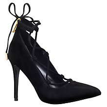 Buy KG by Kurt Geiger Divine Lacing Detail High Heel Court Shoes, Black Suede Online at johnlewis.com
