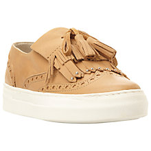 Buy Dune Erynn Tassel Vamp Slip On Trainer, Camel Leather Online at johnlewis.com