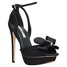 Buy Miss KG Ellie Suedette High Heel Sandals, Black Online at johnlewis.com