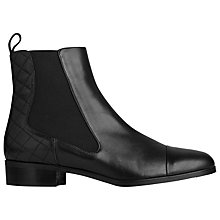Buy L.K. Bennett Ronia Low Heeled Chelsea Boots, Black Leather Online at johnlewis.com
