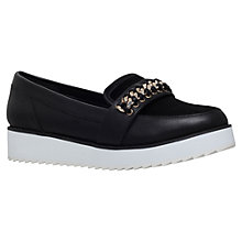 Buy KG by Kurt Geiger Loco Flatform Slip On Loafers, Black Leather Online at johnlewis.com