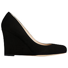 Buy L.K. Bennett Eirene Wedge Court Shoes, Black Suede Online at johnlewis.com
