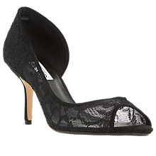 Buy Dune Dellarose Asymmetric Court Shoes, Black Online at johnlewis.com