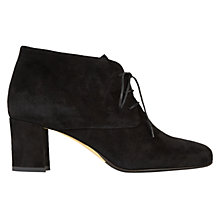 Buy Hobbs Jude Laced Ankle Boots, Black Suede Online at johnlewis.com
