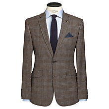 Buy John Lewis Subtle Check Tailored Blazer, Fawn Online at johnlewis.com