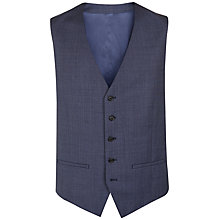 Buy Jaeger Pick and Pick Wool Classic Waistcoat, Blue Online at johnlewis.com