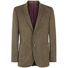 Buy Jaeger Wool Tweed Modern Fit Suit Jacket, Green Online at johnlewis.com