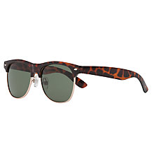 Buy John Lewis Boys' Clubmaster Sunglasses, Brown Online at johnlewis.com