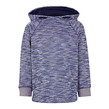 Buy John Lewis Boys' Melange Hoodie, Navy Online at johnlewis.com
