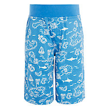 Buy John Lewis Boys' Shark Printed Pull On Shorts, Blue Online at johnlewis.com
