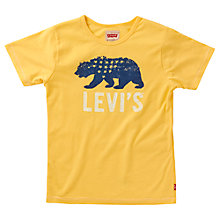 Buy Levi's Boys' Short Sleeve Bear T-Shirt, Yellow Online at johnlewis.com