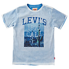 Buy Levi's Boys' Cali Print T-Shirt, Blue Online at johnlewis.com