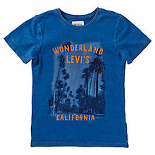 Buy Levi's Boys' Short Sleeve Brock T-Shirt, Indigo Online at johnlewis.com