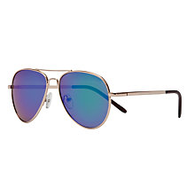 Buy John Lewis Boys' Mirror Aviator Sunglasses, Gold Online at johnlewis.com