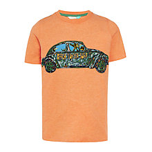 Buy John Lewis Boys' Beetle Graphic T-Shirt, Coral Online at johnlewis.com