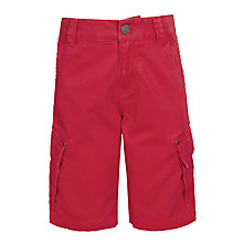 Buy John Lewis Boys' Solid Cargo Shorts, Red Online at johnlewis.com