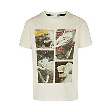 Buy John Lewis Boys' Iguana Print T-Shirt, Cream Online at johnlewis.com