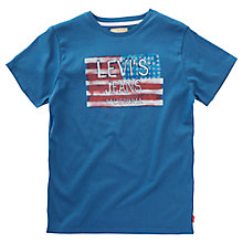 Buy Levi's Boys' Buck T-Shirt, Dark Blue Online at johnlewis.com