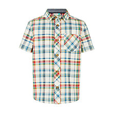 Buy John Lewis Boys' Short Sleeve Check Oxford Shirt Online at johnlewis.com