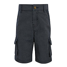 Buy John Lewis Boys' Textured Stripe Cargo Shorts, Navy Online at johnlewis.com