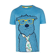 Buy John Lewis Boys' Dog With Tie Graphic Print T-Shirt, Blue Online at johnlewis.com
