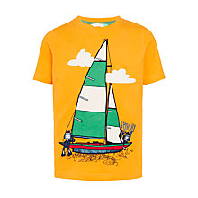 Buy John Lewis Boys' Splash Yacht Graphic T-Shirt, Yellow Online at johnlewis.com