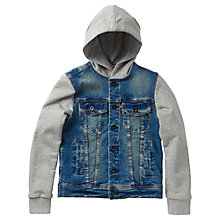 Buy Levi's Boys' Teo Long Sleeve Jacket, Indigo Online at johnlewis.com