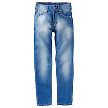 Buy Levi's Boy's 501 Straight Leg Jeans, Blue Online at johnlewis.com