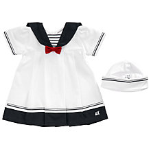 Buy Emile et Rose Baby Horizon Sailor Dress and Hat Set, White/Blue Online at johnlewis.com