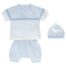Buy Emile et Rose Hugh Knitted Top and Bottoms Set, Blue Online at johnlewis.com