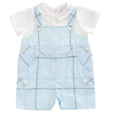 Buy Emile et Rose Baby Harold 2 in 1 Bibshort Set, Blue Online at johnlewis.com